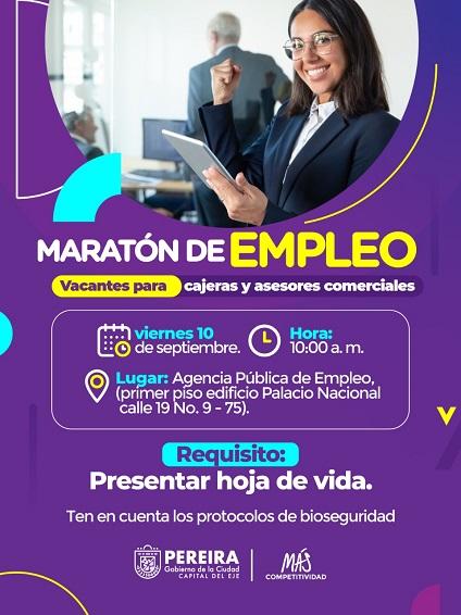 Agencia Pública de Empleo ofertará este viernes vacantes a través de maratón de empleo presencial