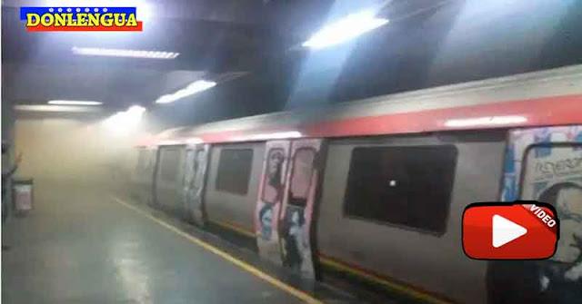 Metro de Sábana Grande entró en corto circuito y generó explosiones