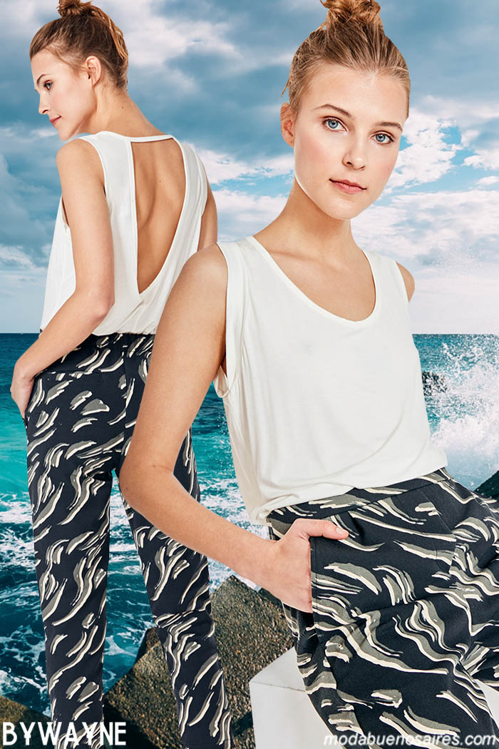 Pantalones primavera verano 2020 y blusas de moda mujer 2020.