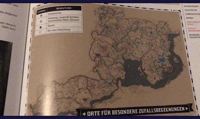 Suposto mapa de Red Dead Redemption 2