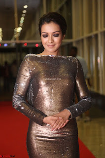 Actress Catherine Tresa in Golden Skin Tight Backless Gown at Gautam Nanda music launchi ~ Exclusive Celebrities Galleries 071.JPG