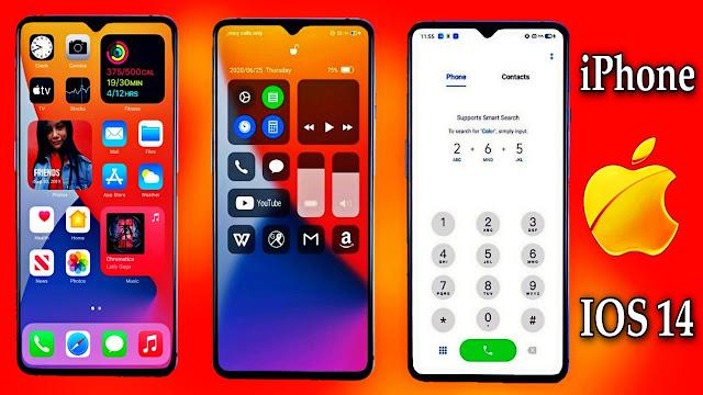 تحويل شكل أي هاتف أندرويد بالكامل إلى شكل أيفون 12 مع ios 14 وبدون روث
