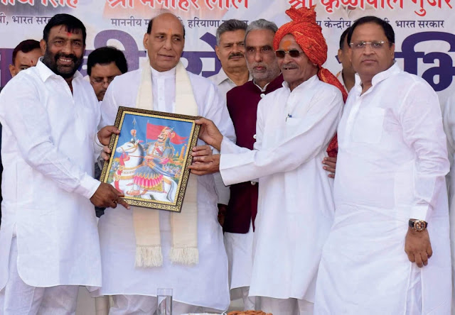 Home Minister Rajnath Singh's BJP leader Kishan Thakur welcomed Faridabad Old