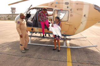 Nigerian Air Force Airlifted Conjoined Twins From Yola - PH For Surgery (Pics)