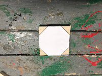 Octagon template on top of a square