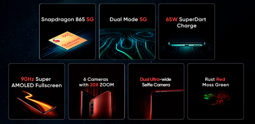 جميع مواصفات هاتف Realme X50 Pro