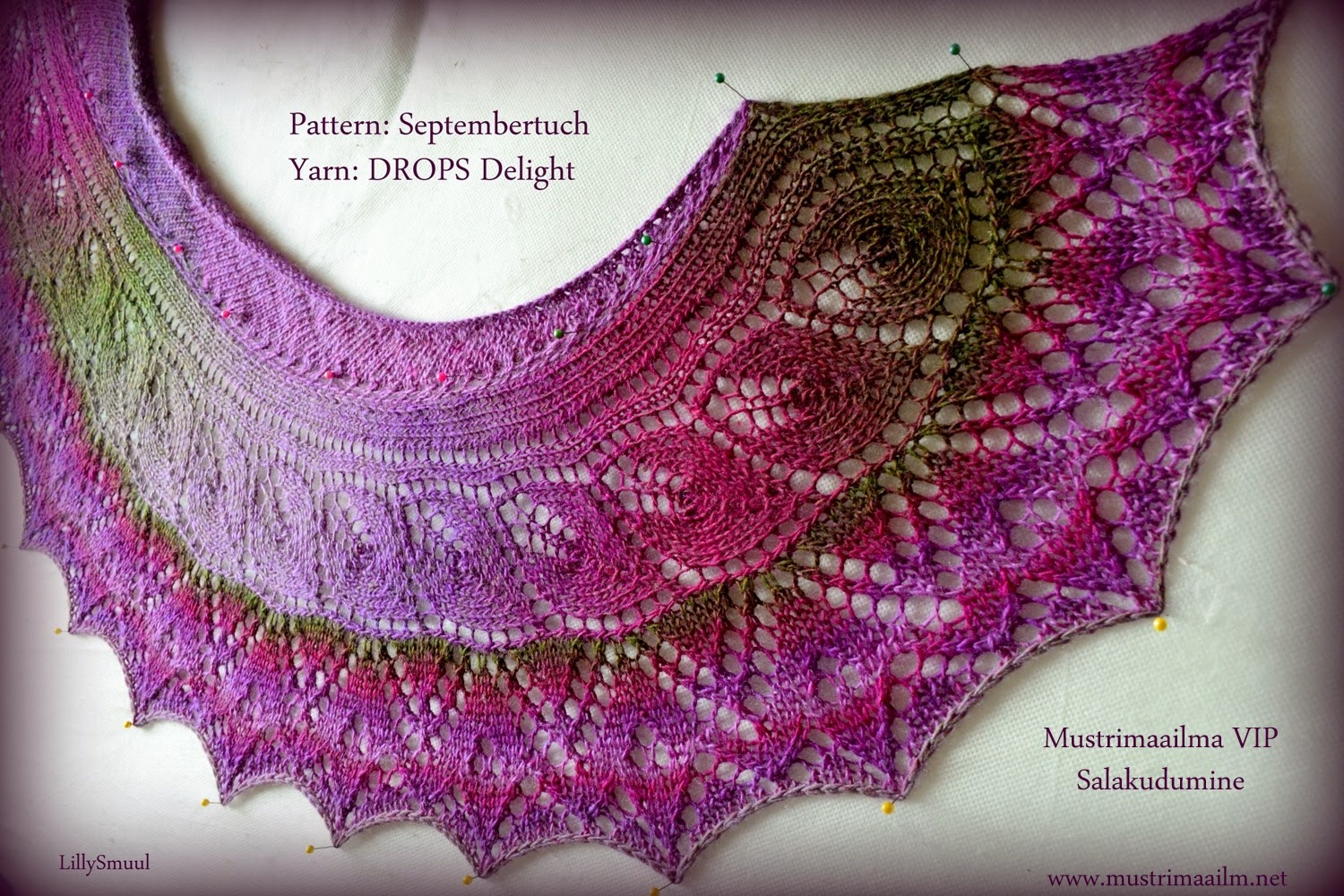 Beautiful shawl in DROPS Delight