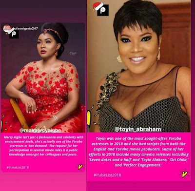 Mercy Aigbe, Toyin Abraham Get Applauded For Outstanding Roles In 2018
