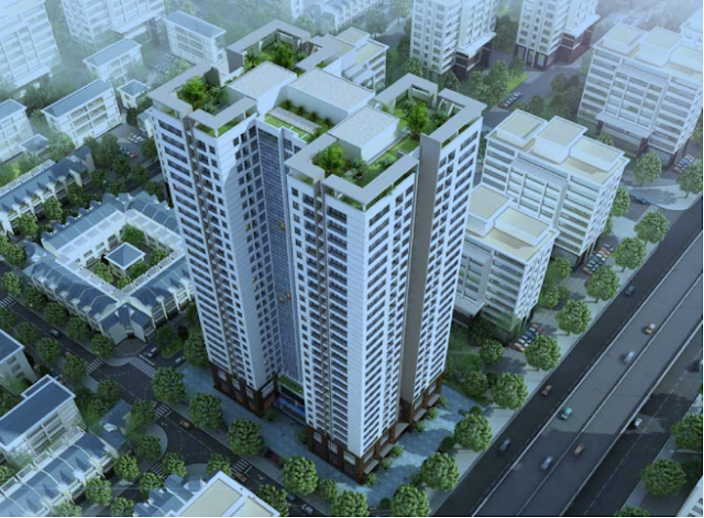 Tổng thể dự án căn hộ chung cư Hasinco Grand Tower.