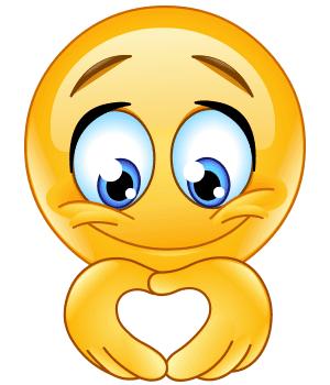 Heart-shaped hands emoji