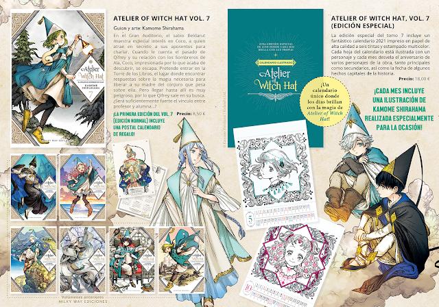 """Milky Way Ediciones anuncia  edición doble del tomo 7 de """"Atelier of Witch Hat"""""""