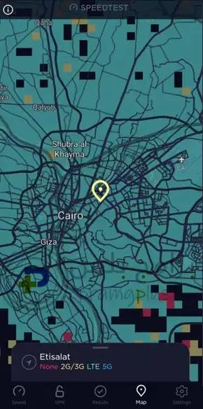 تحديد الموقع الجغرافي برنامج Speedtest