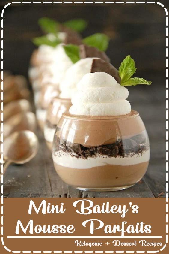 Mini Bailey's Mousse Parfaits