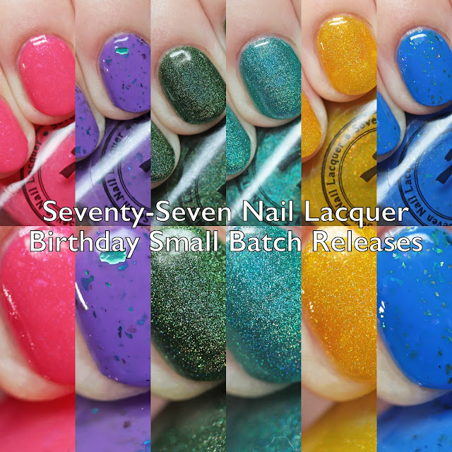 Seventy-Seven Nail Lacquer Birthday Small Batch Releases