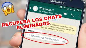 Si eres un usuario de WhatsApp puedes tener acceso a esos mensajes eliminados