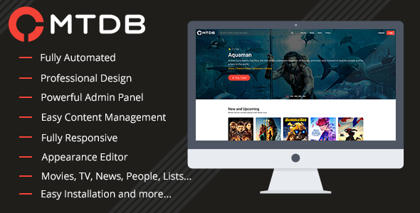 MTDb php script–site script with movies and TV shows