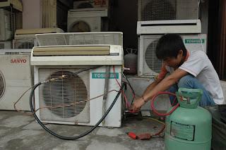 Nạp gas điều hòa tại nhà Hà Nội