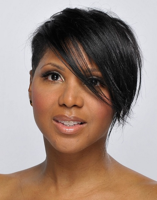 Hairstyles for Black Women with Thin Hair with Bangs