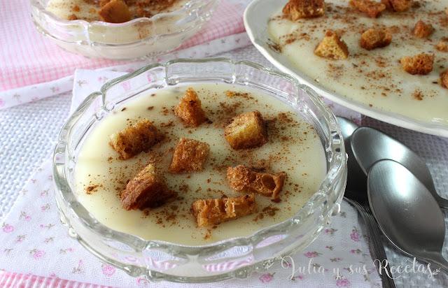 Gachas dulces del día de los santos. Julia y sus recetas