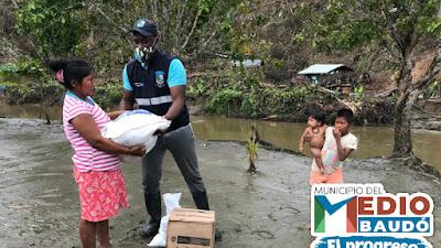 12 toneladas de ayudas humanitarias para comunidades Afros e Indígenas  en el Medio Baudó