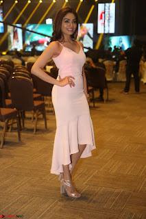 Aishwarya Devan in lovely Light Pink Sleeveless Gown 032.JPG