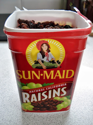 Sun Maid Raisins in the tub