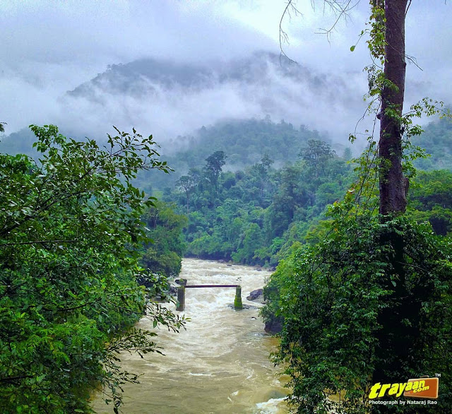 Monsoon clouds and misty mountains in Shiradi Ghats