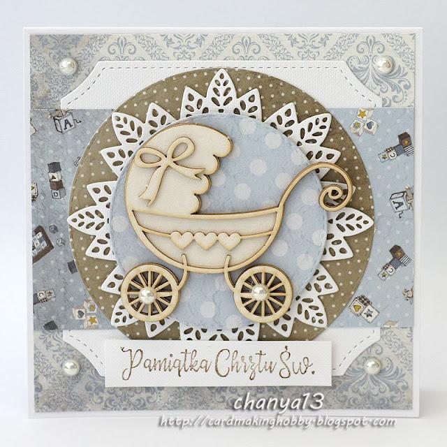 kartka dla maluszka z okazji chrztu św.
