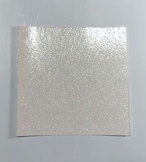 White glitter cardstock used in Valentine Candy Box