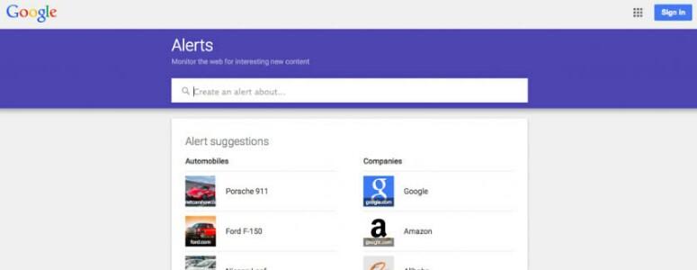 gunakan Google Alerts sebagai alat pemasaran konten