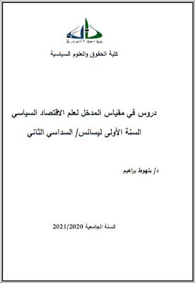 دروس في مقياس المدخل لعلم الاقتصاد السياسي من إعداد د. بلهوط براهيم PDF