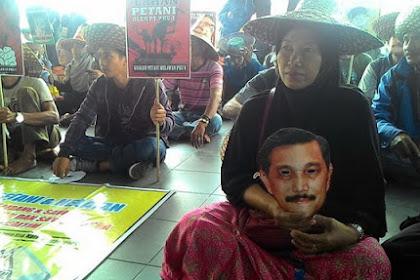 Petani Kukar Demo, Minta Luhut Tanggung Jawab Hilangnya Mata Pencaharian Mereka
