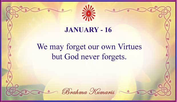 Thought For The Day January 16