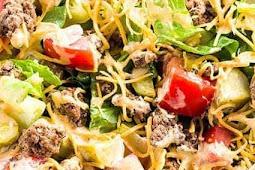 Keto Dinner | Cheeseburger Salad with Big Mac Dressing