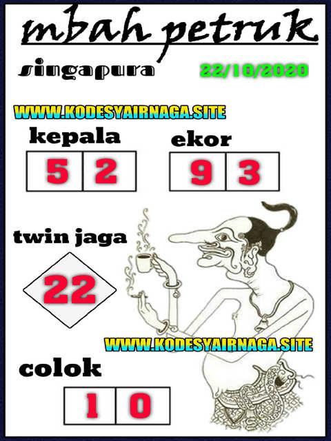 Kode syair Singapore Kamis 22 Oktober 2020 228