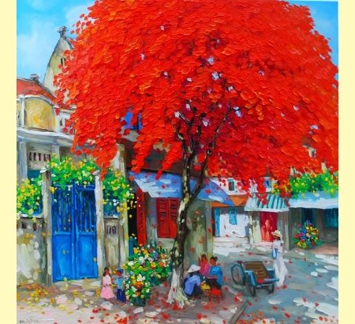 Estação Vermelha - Pinturas do vietnamita Lam Duc Manh