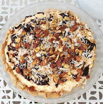 No Bake Almond Joy Pie