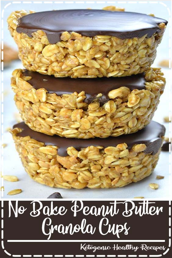 Need a quick and healthy snack? No Bake Peanut Butter Granola Cups are easy and healthy snack for kids and adults and perfect breakfast to grab and go