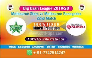 Dream 11 Team Prediction Renegades vs Star 22nd Match BBL T20 Captain & Vice Captain
