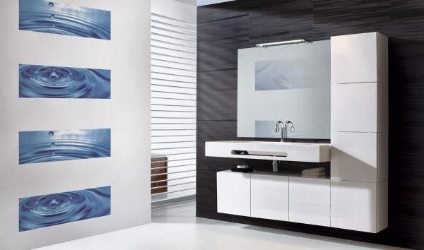 Inspiration salle de bain: Salle de bain moderne blanche