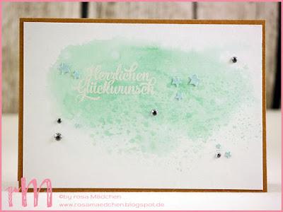 Stampin' Up! rosa Mädchen Kulmbach: Geburtstagskarten im Aquarelllook mit Grußelemente und Perfect Pairings