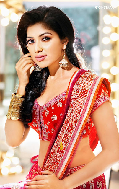 Amala Paul Sizzling In Red - Amala Paul Hot Seducing Saree Stills-Sexy Photo Collection
