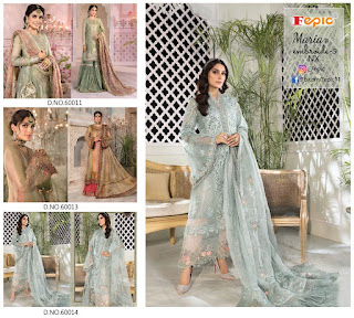 Fepic maria b Mbroide 3 Nx Pakistani Suits