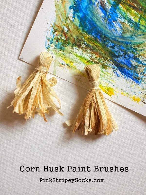 how to make corn husk paint brushes