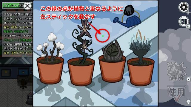 WaterPlants(植物に水をやる)スイッチアイコン説明画像