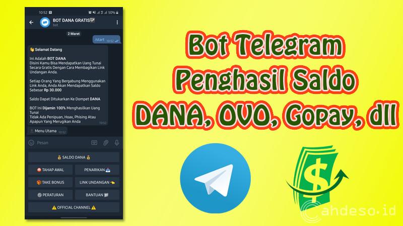 Bot Telegram Penghasil Saldo DANA