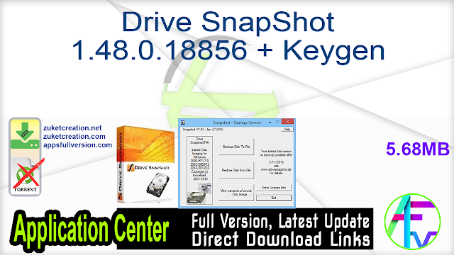 Drive SnapShot 1.48.0.18856 + Keygen
