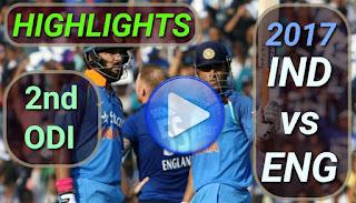 Ind vs eng 2nd odi 2017 highlights