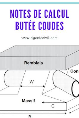 Exemple de note de calcul de butée des coudes