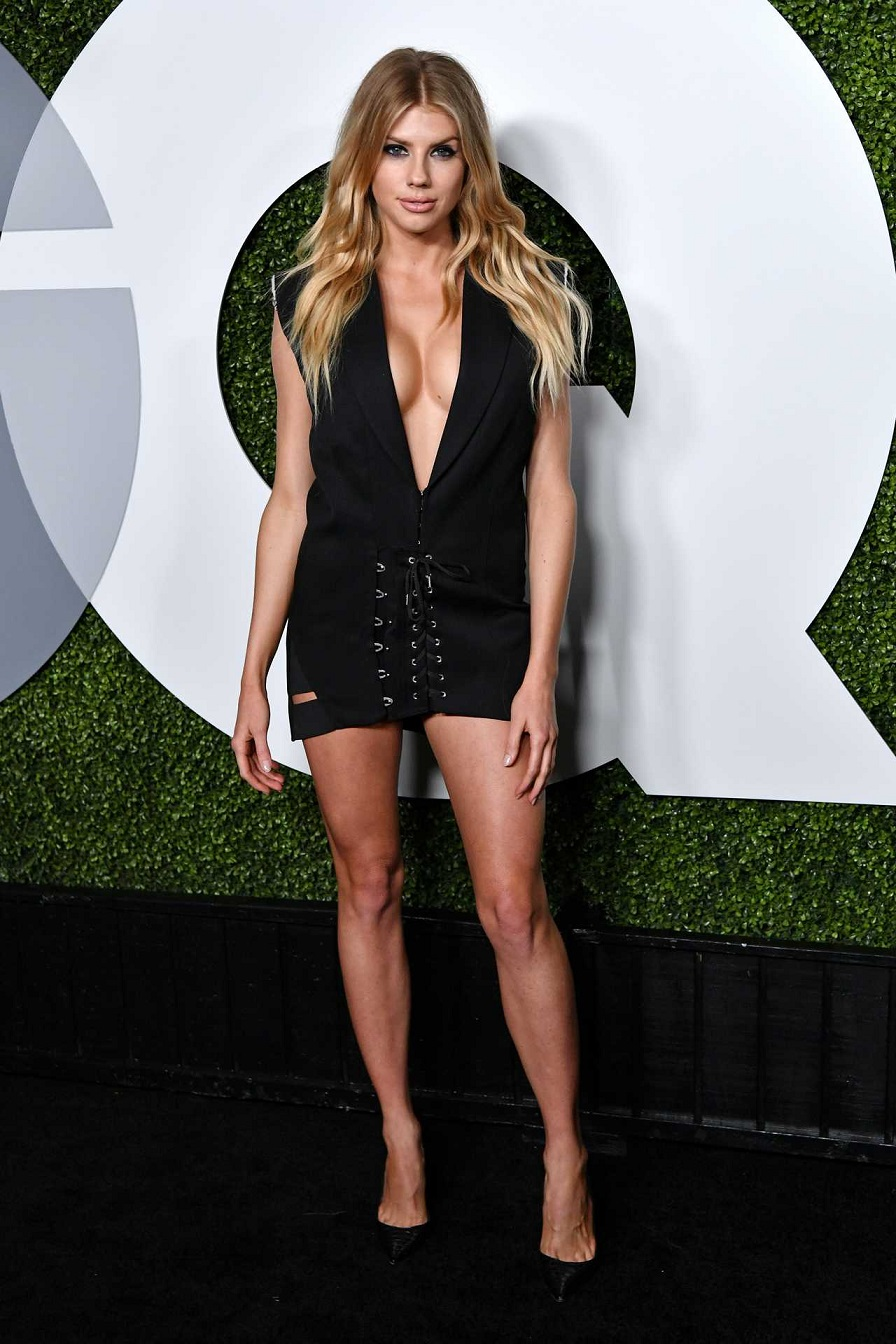 Charlotte McKinney flaunts cleavage at the 2016 GQ Men of the Year Awards